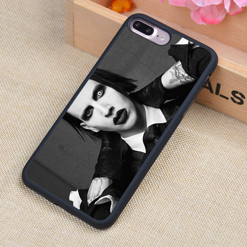Marilyn Manson Printed Soft TPU Protective Shell Skin Phone Case For iPhone  6 6S Plus 7 728b98db2fb