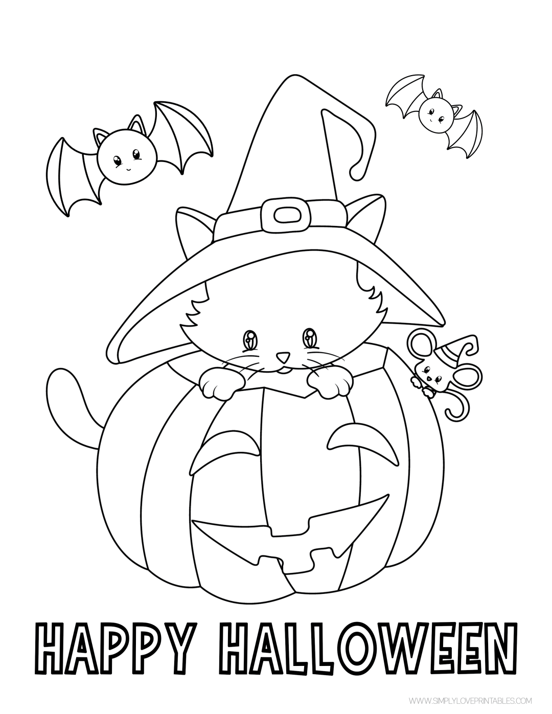 Free Printable Happy Halloween Coloring Page In 2020 Pumpkin Coloring Pages Halloween Printables Coloring Pages