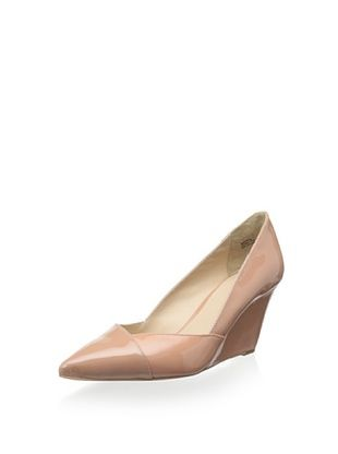 Pour La Victoire Women's Marjorie Pointy Toe Wedge (Pink Nude)