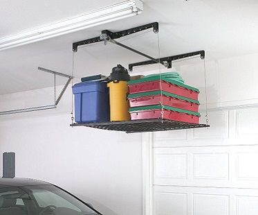 This Ceiling Mounted Storage Rack Will Provide You
