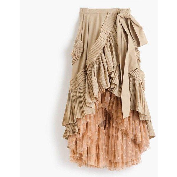 Love Sam Metallic Ruffled Printed Geette Wrap Skirt Lyst
