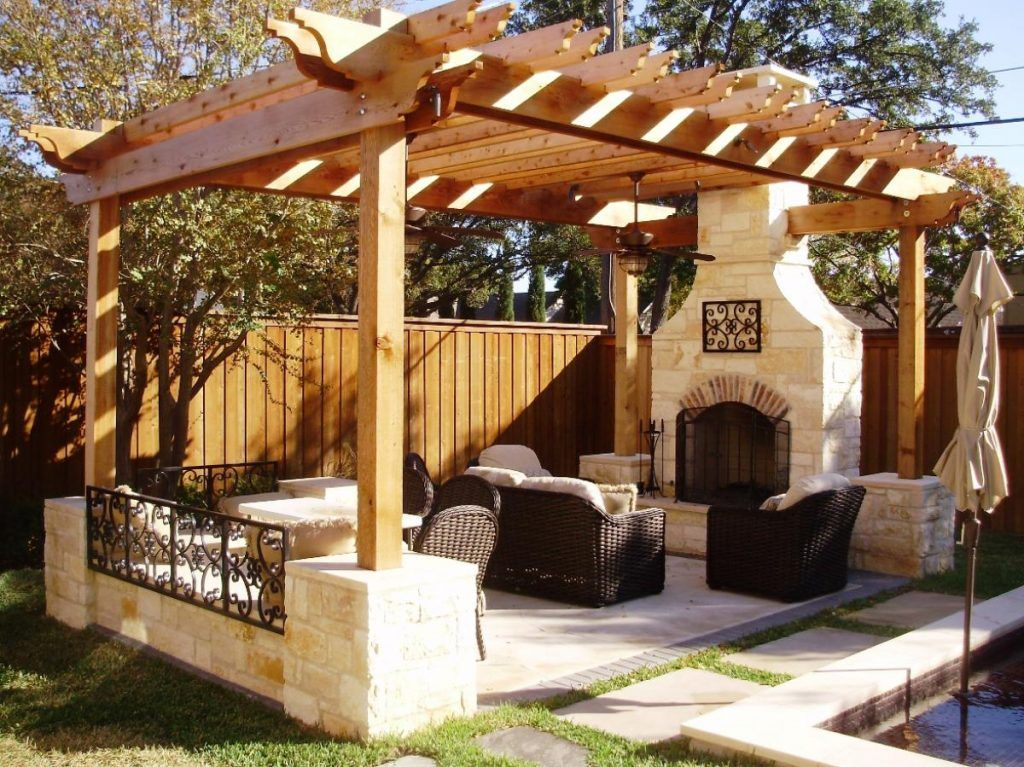 Outside Living Space contemporary-designs-for-outdoor-living-space-in-wooden-gazebo