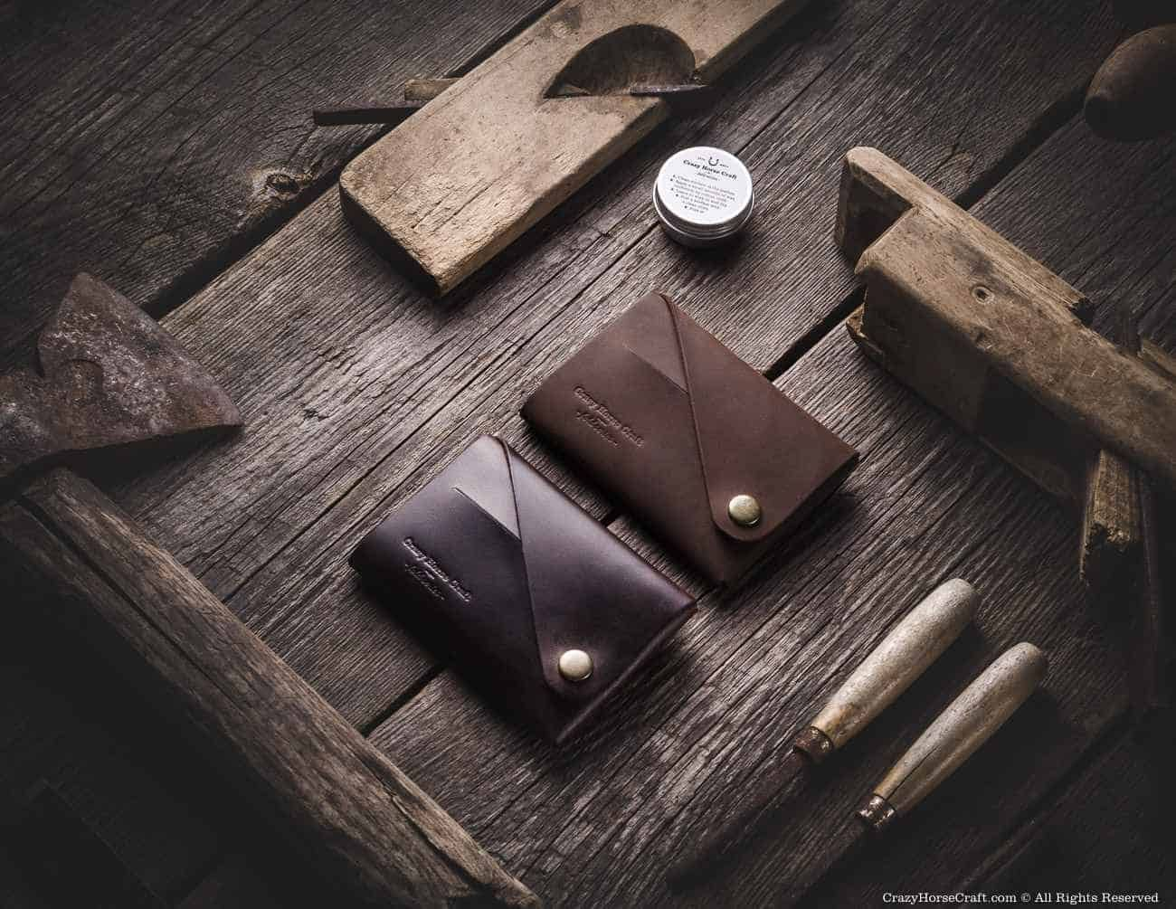 CRAZY HORSE CRAFT LEATHER GOODS Mensaxis.com | Leather wallet, Leather  gifts, Simple leather