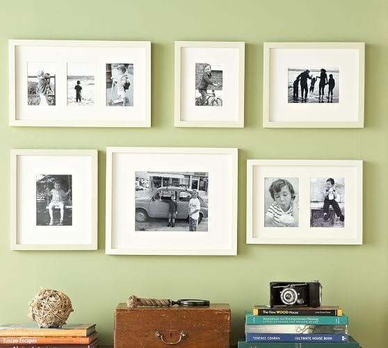 Gallery in a Box - Wood Gallery Frames - WHITE, 6 frames | Pottery ...