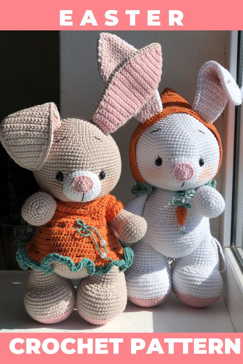 Crochet Bunny Pattern in English Amigurumi Easter Pattern   Etsy ...