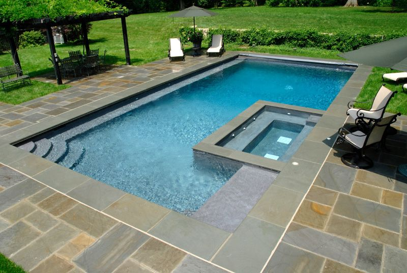 Pool Designs With Spa rectangular pool designs | pool design, or often called square or