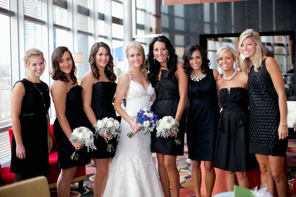 black bridesmaid dresses that are all different - here is an example Kendie!