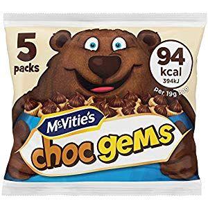 McVities Choc Gems Milk Chocolate Topped Biscuits 95 g Cupboard Pasta-Pulses Cupboard Spices-Seasonings Cupboard