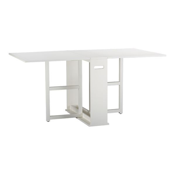 Span White Gateleg Dining Table Folding Dining Table Dining