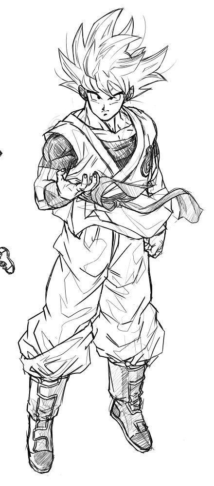 Aprenda á Desenhar Personagens De Dragon Ball Goku Desenho