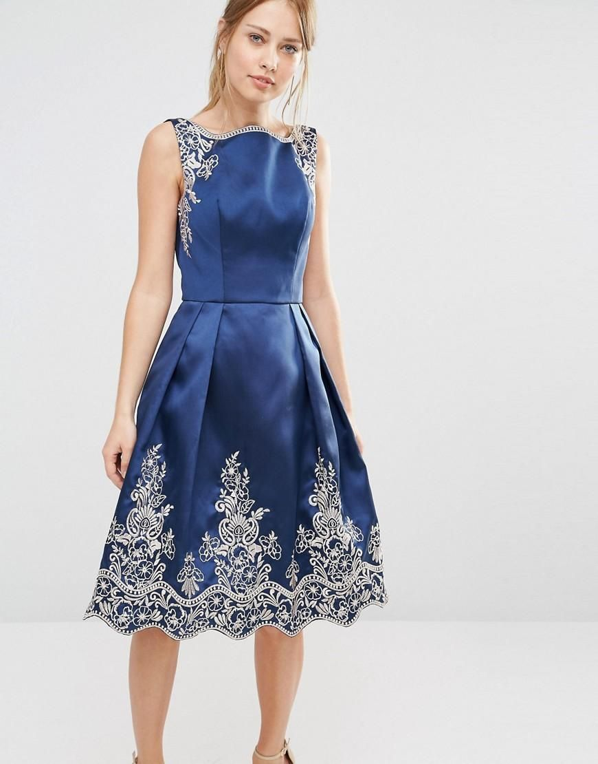 Chi Chi London | Chi Chi London Embroided Midi Dress with ...