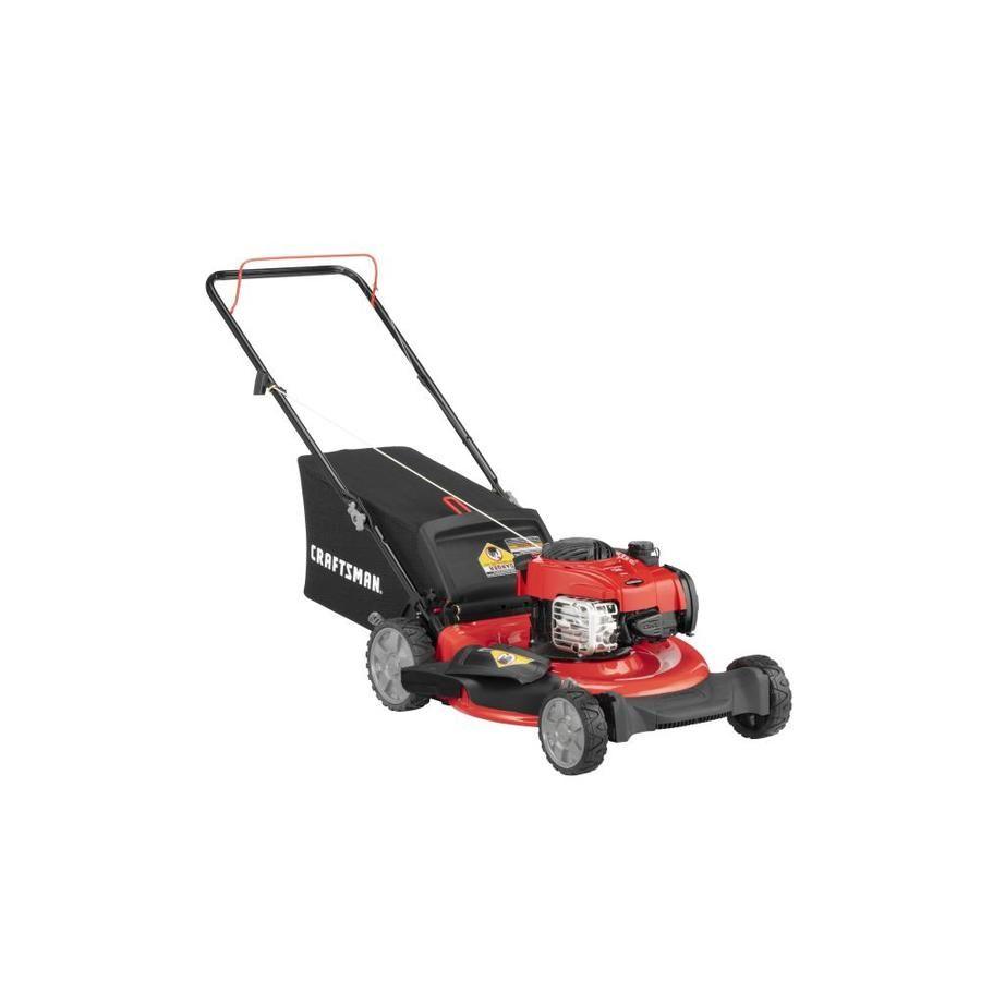 Craftsman M110 140 Cc 21 In Gas Push Lawn Mower With Briggs Stratton Engine Lowes Com Push Lawn Mower Diy Lawn Lawn Mower Repair