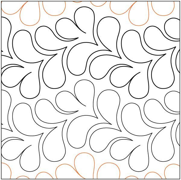 Lei quilting pantograph pattern by Patricia Ritter and