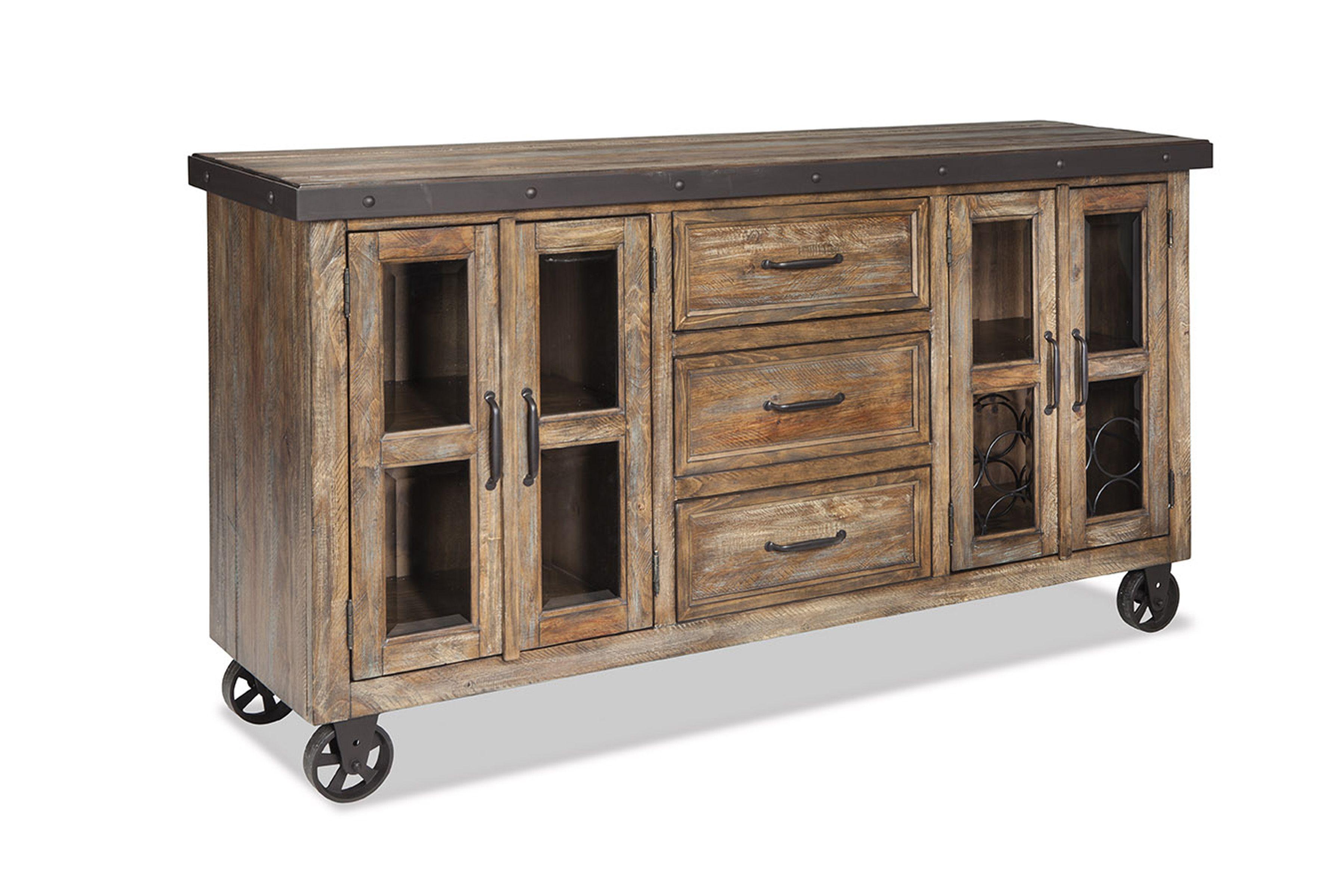 Buffet Rustic Sideboard Sideboard Furniture Metal Sideboard