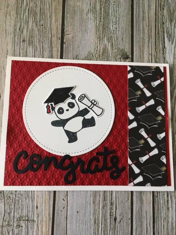Photo of Panda Abschlusskarte-handgemachte Abschlusskarte-High-School-Abschlusskarte-College-Abschlusskarte-Kindergarten-Abschlusskarte