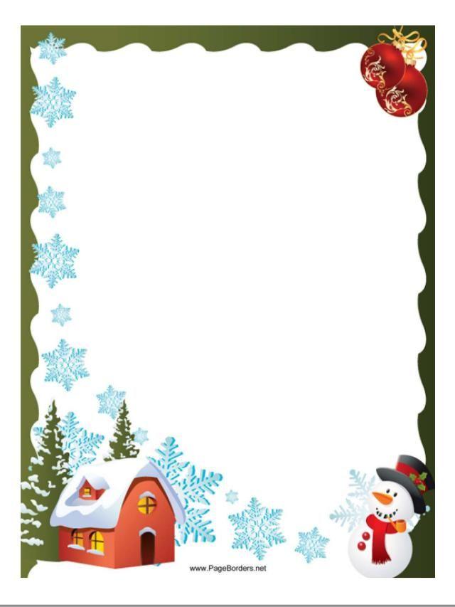 Free Christmas Borders You Can Download and Print Free Christmas