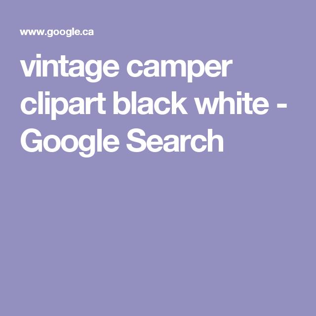 Vintage Camper Clipart Black White