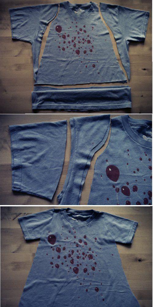 549f63a624 Kinderkleid aus erwachsenem T-Shirt | Nähen ⇒ Upcycling ...
