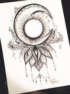 Moon Tattoo Ideas And My Favorite Lotus Flower Tattoos Beautiful Tattoos Cute Tattoos