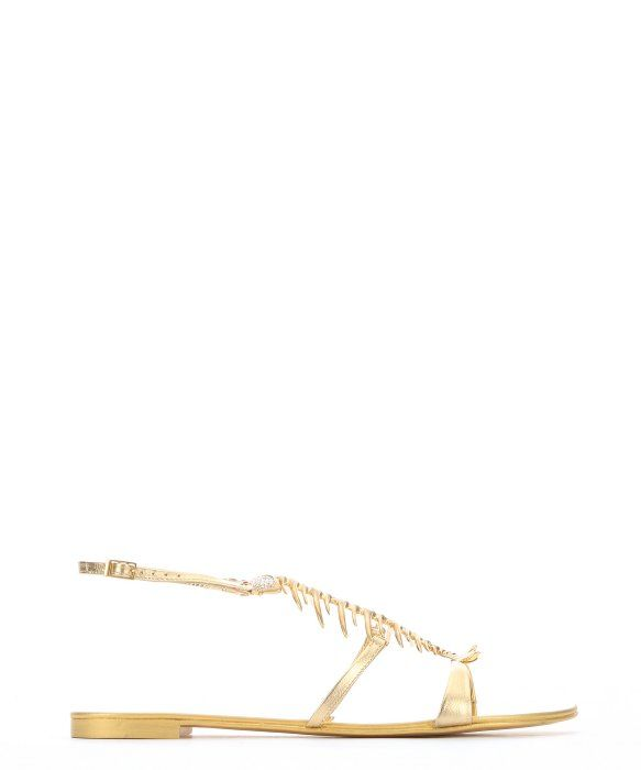 7bd61cac0e8a0 GIUSEPPE ZANOTTI Gold Metallic Leather '20Th Anniversary' Fish Bone Sandals.  #giuseppezanotti #shoes #sandals