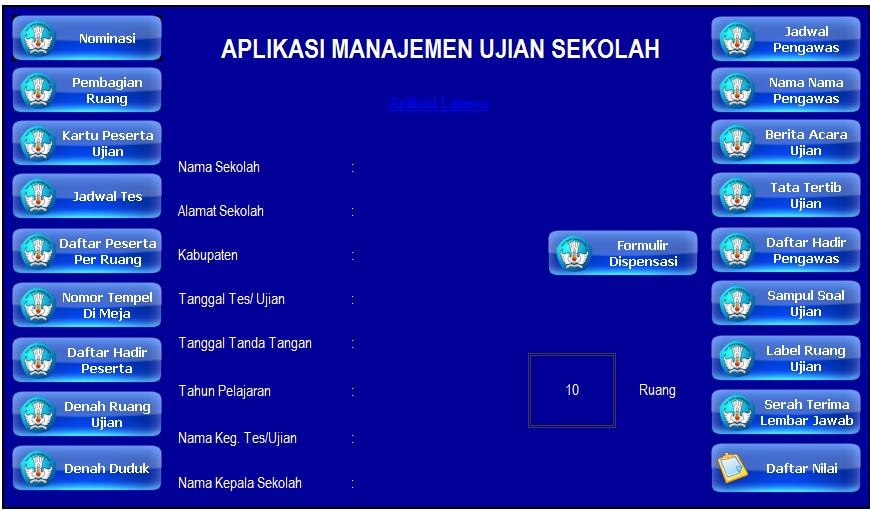 Aplikasi Manajemen Administrasi Ujian Sekolah Sekolah Aplikasi Tanda