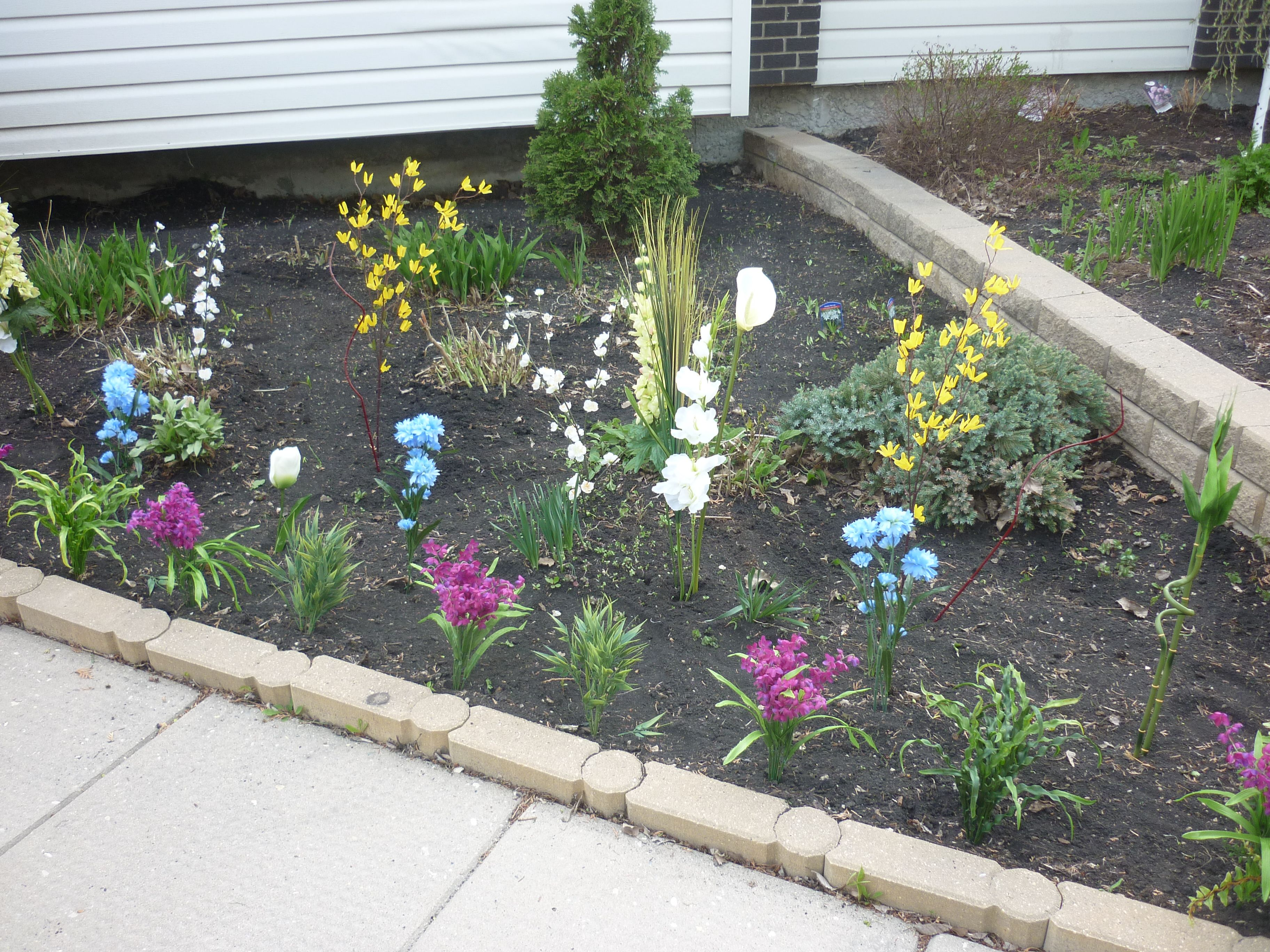 Faux Flower Garden (don't tell anyone they are fake!)