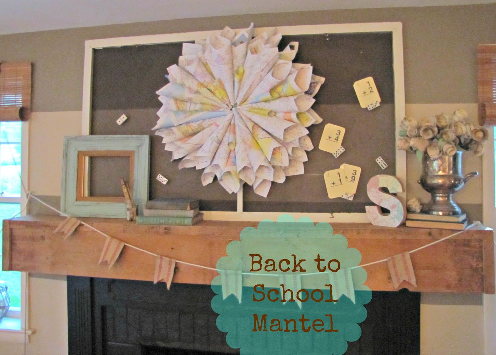The Painted Home back to school mantel Your Best DIY Projects
