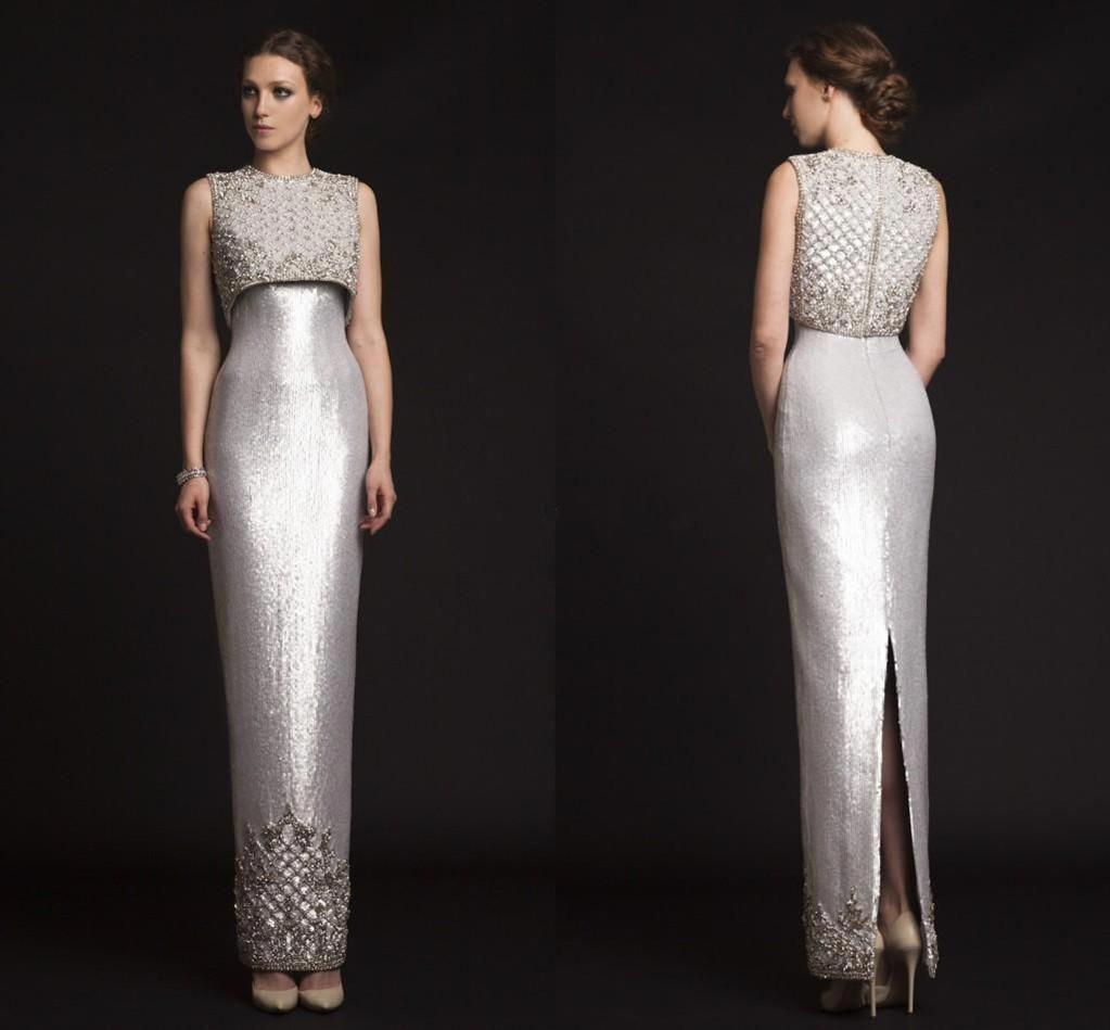 2018 New Luxury Krikor Jabotian Evening Dresses Sequins
