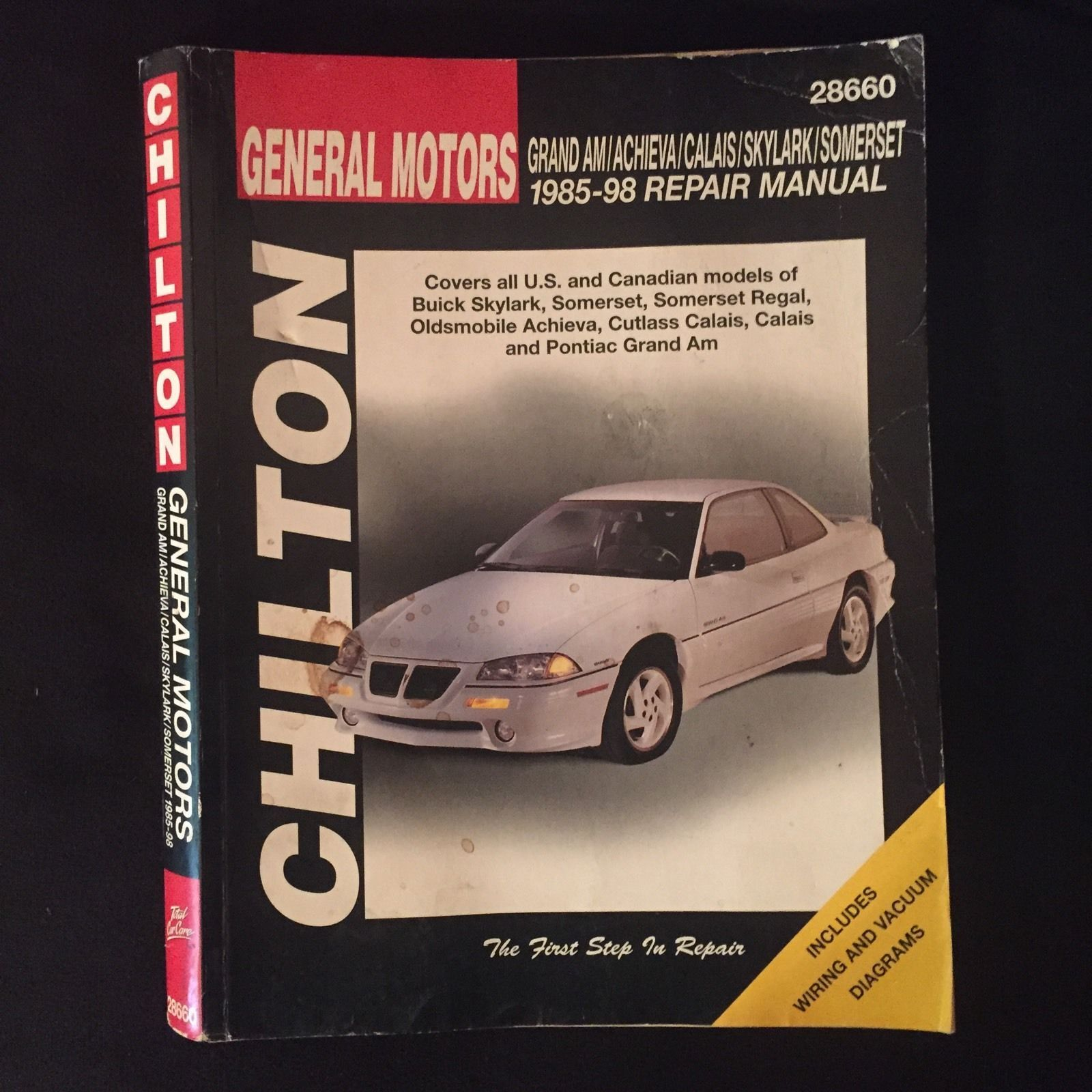 ManualsPRO - GM Grand Am Achieva Calais Skylark Somerset 1985-98 Chilton  Auto RepairManual https