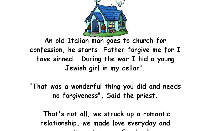 An old Italian man goes to church for confession   Funny ...
