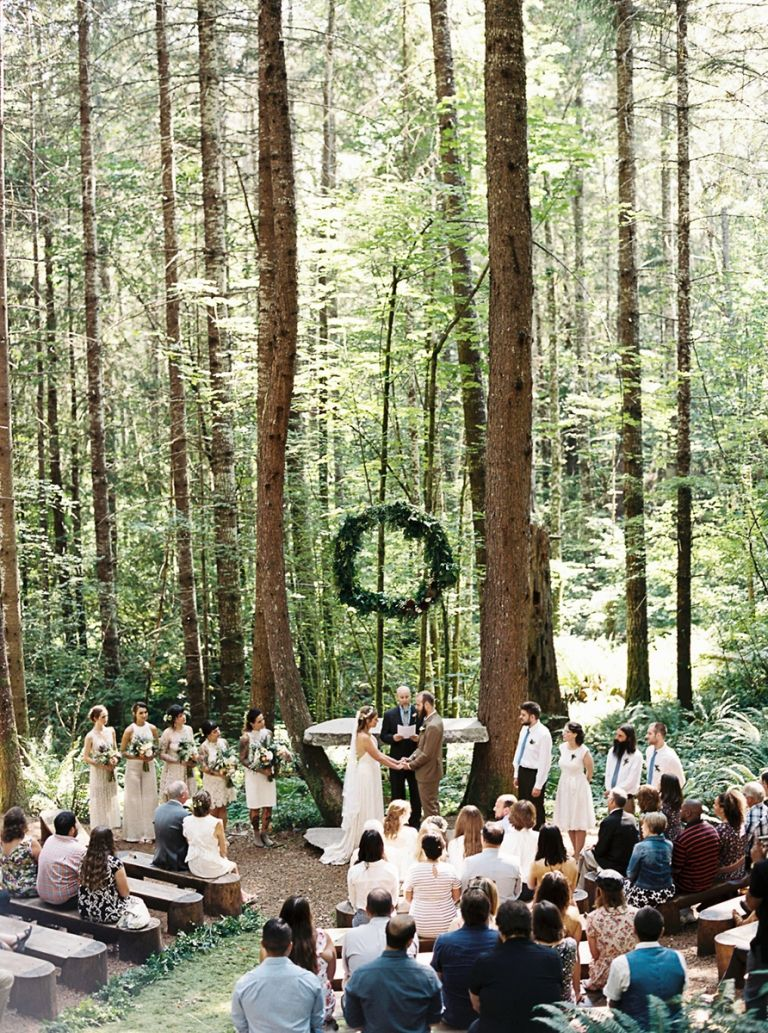Our Favorite Elegant Forest Wedding Venues In Washington State Forest Wedding Venue Wedding Ceremony Setup Forest Wedding Ceremony
