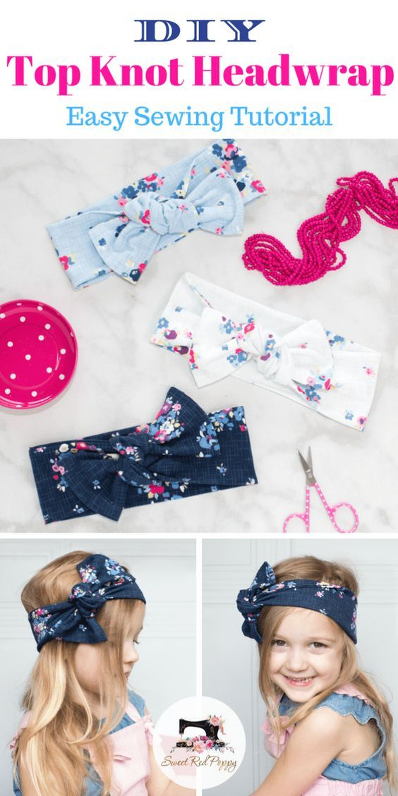 Photo of Top Knot Bow Head Wrap Sewing Tutorial