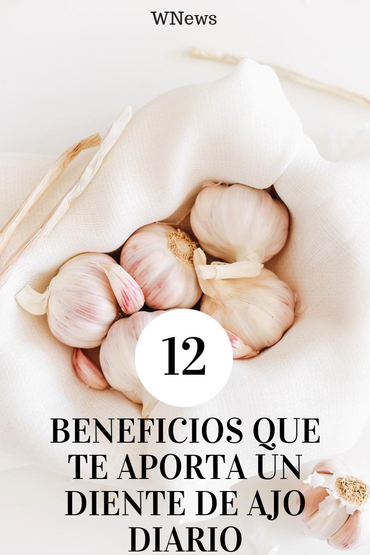 12 Beneficios Que Te Aporta Un Diente De Ajo Diario Ajo Beneficios Del Ajo Dolor De Dientes