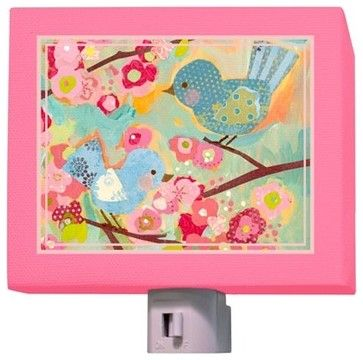 Buy your cherry blossom birdies night light by oopsy daisy here keep your childs room well lit at night with the cherry blossom birdies night light from