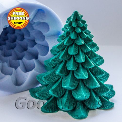 3D Silicone Soap//Candle Mold Decorative Christmas Tree-buy from original maker