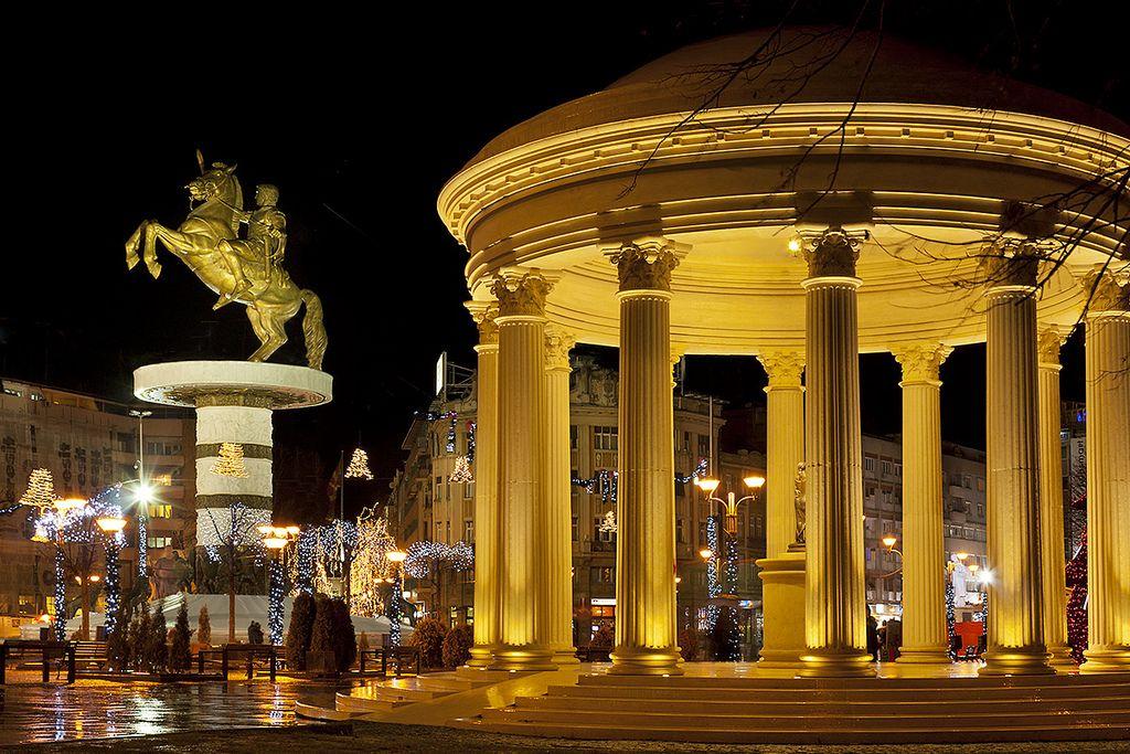 Skopije pictures | Alexander Statue in Skopje Mazedonien | Makedonien - The great ancient Kingdom of Makedonia