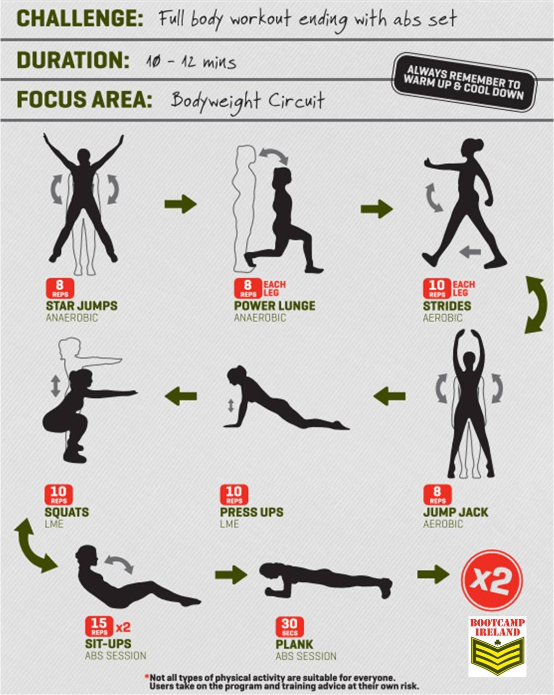 body fitness exercises at home pdf