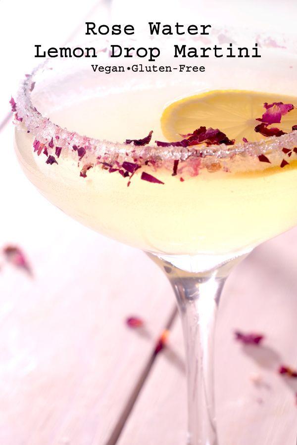 Rose Water Lemon Drop Martini