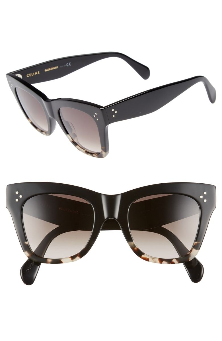 8c1cafbf57 Free shipping and returns on Céline 50mm Gradient Butterfly Sunglasses at  Nordstrom.com. A timeless cat-eye silhouette meets contemporary