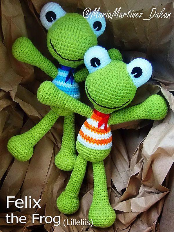 Lilleliis Felix frog pattern   Patrones amigurumi, Ranas y Patrones
