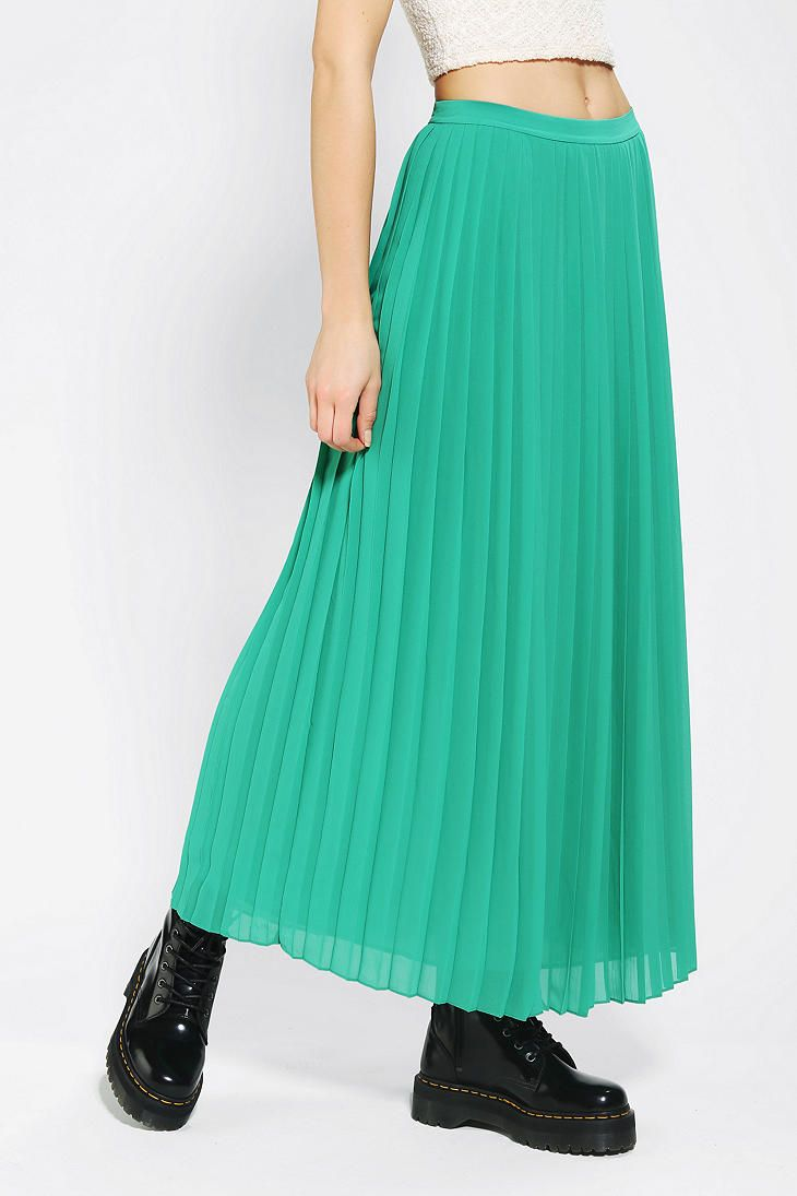 Sparkle & Fade Pleated Chiffon Maxi Skirt | I Would Wear This ...