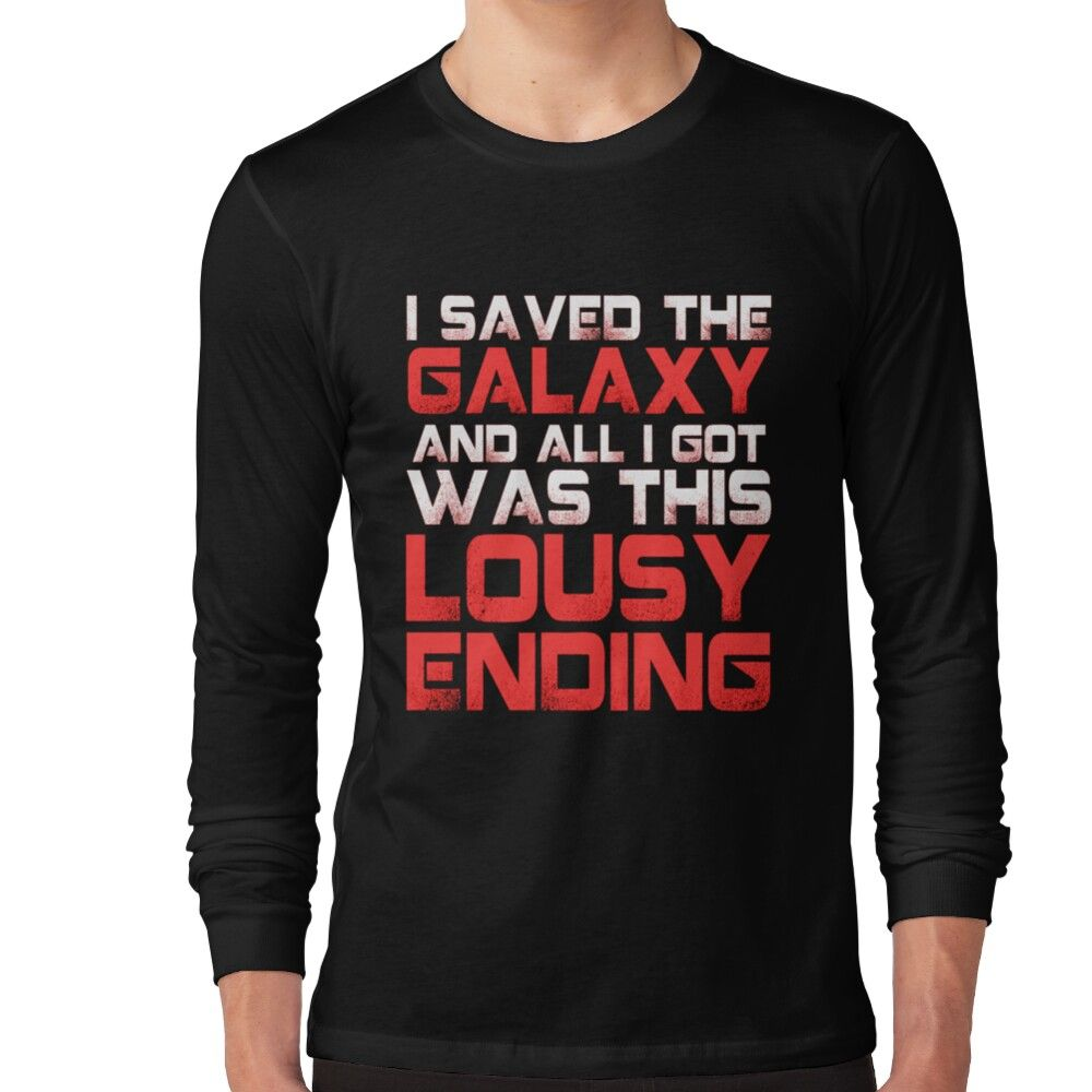 All I Got Was This Lousy Ending - Mass Effect Ending Rage Shirt Long Sleeve T-shirt by springly