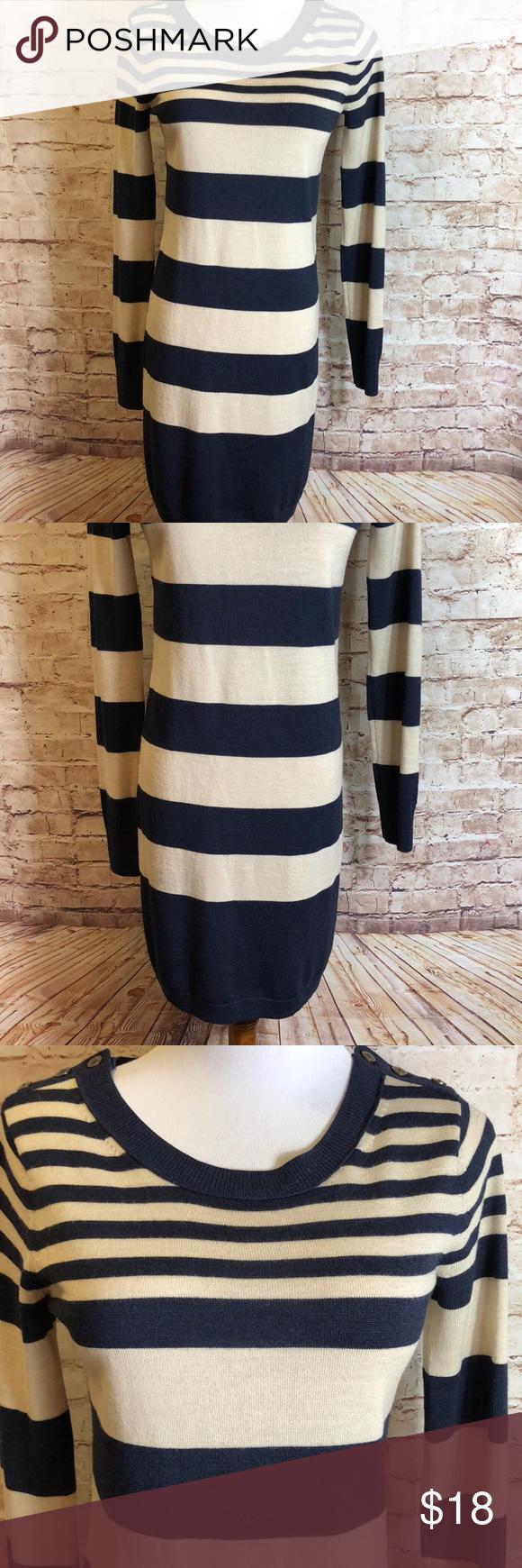Club Monaco Stripe Knit Dress Striped Knit Dress Long Sleeve Knit Dress Knit Dress [ 1740 x 580 Pixel ]
