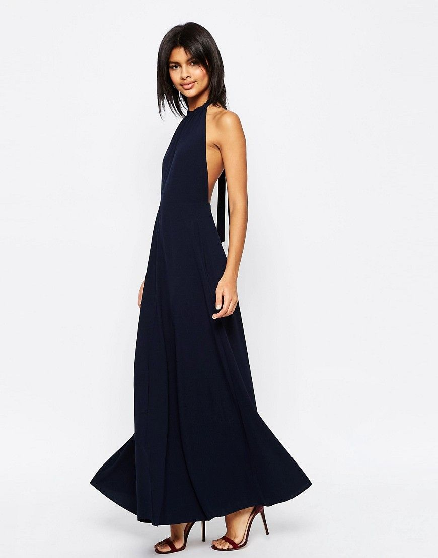 Cheapest Price Sale Online Outlet Free Shipping Maxi Dress with Open Back - Black Asos Cheapest JtnuXXSLI