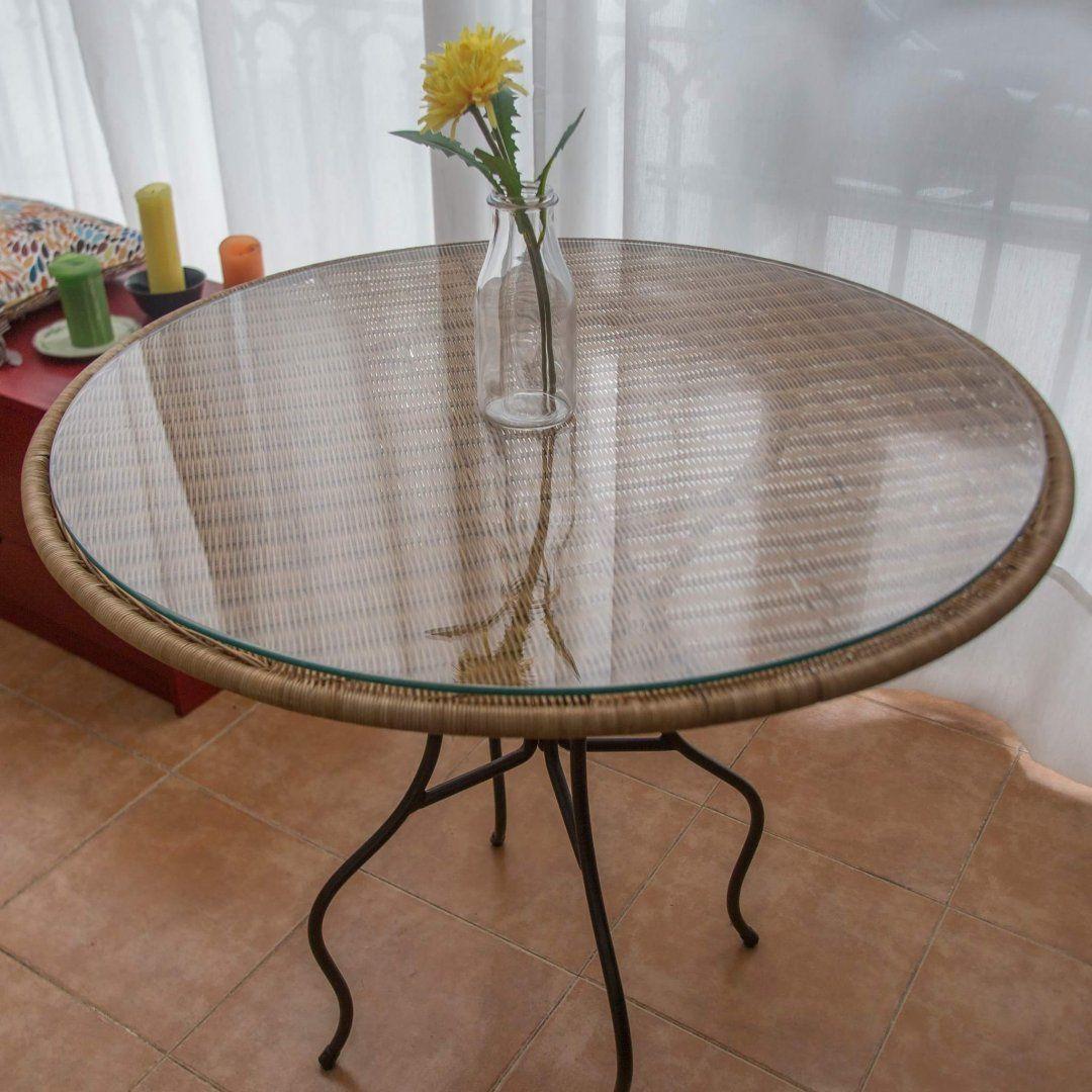 15,00€ · mesa redonda · Mesa redonda 80cm de ratan con patas ...