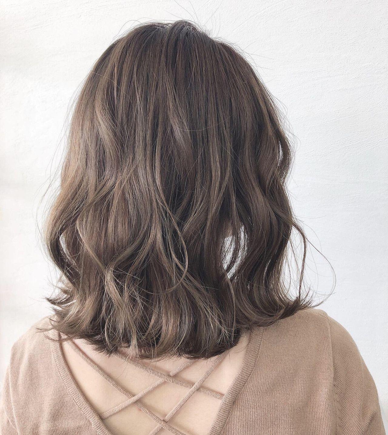 オリーブベージュ オリーブアッシュ ナチュラル オリーブカラー Chillin Room Akane Ueda 477975 Hair 髪色 ベージュ 短い髪のためのヘアスタイル 髪 カラー