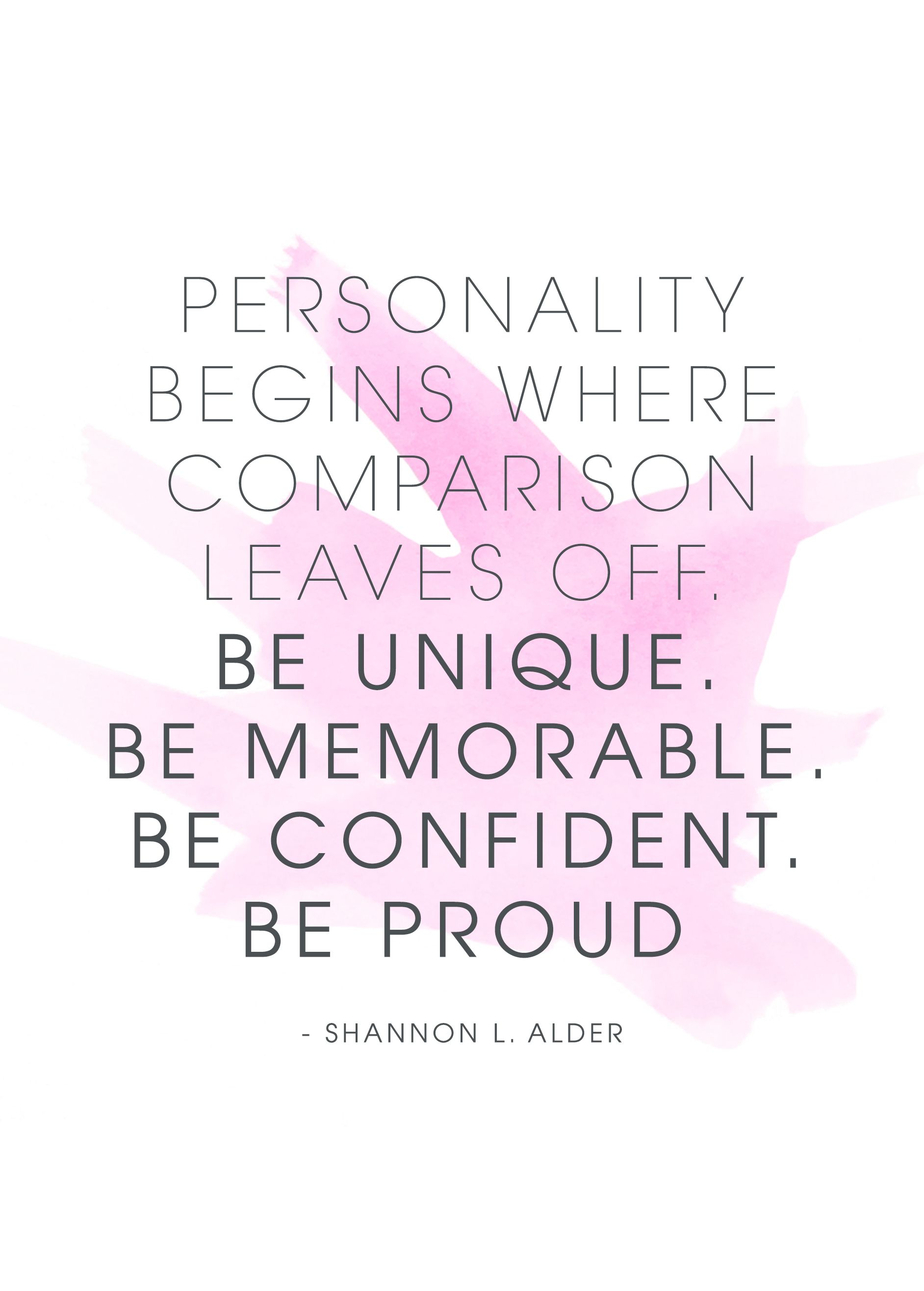 9 Quotes To Help You Stop Comparing Yourself To Others Inspiring