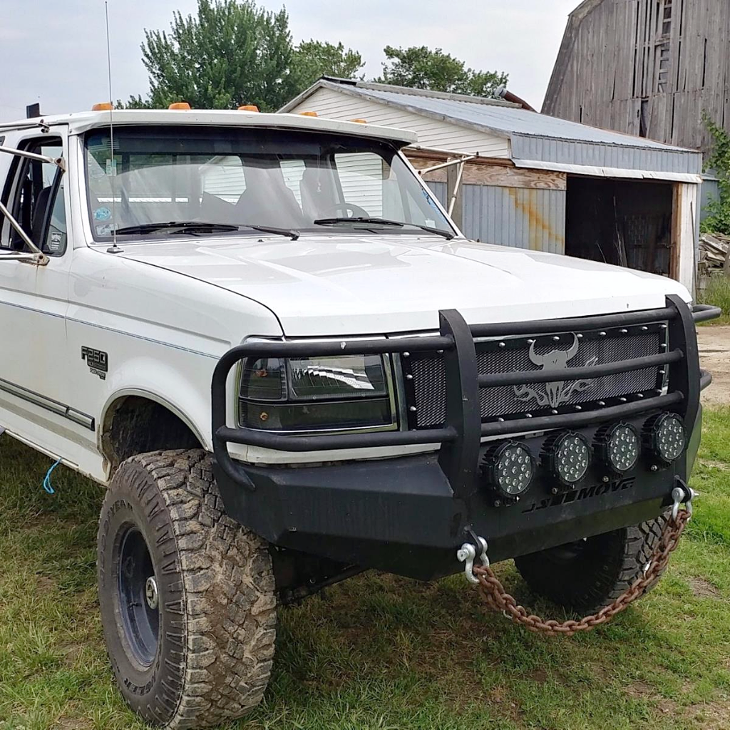 hight resolution of customizable wiy front full grill ford f250 f350 1992 1996 truck 2706 move bumpers