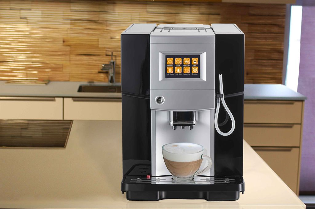 kaffeevollautomat latte macchiato auf knopfdruck