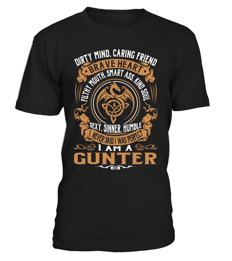 GUNTER Brave Heart Last Name T-Shirt #Gunter